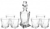 Quadro Decanter and 6 Tumblers